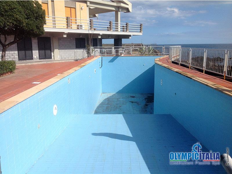 Ristrutturazione piscina in Muratura Skimmer Bocca Larga ...