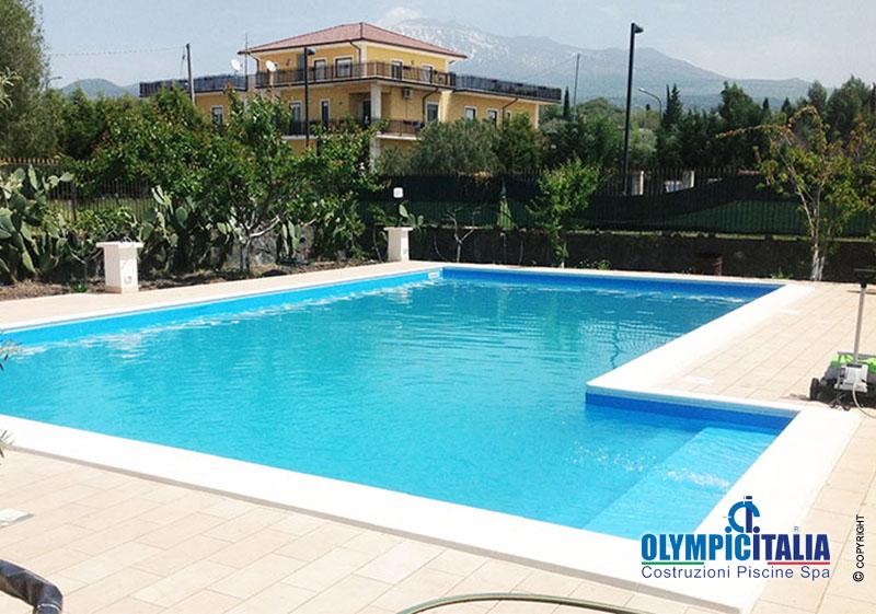 Costruzione piscina skimmer basci bocca svasata villa privata adrano catania clienti olympic - Hotel con piscina catania ...