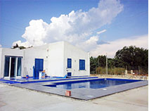 Collaudo piscina rivestimento blu scuro - dark blue